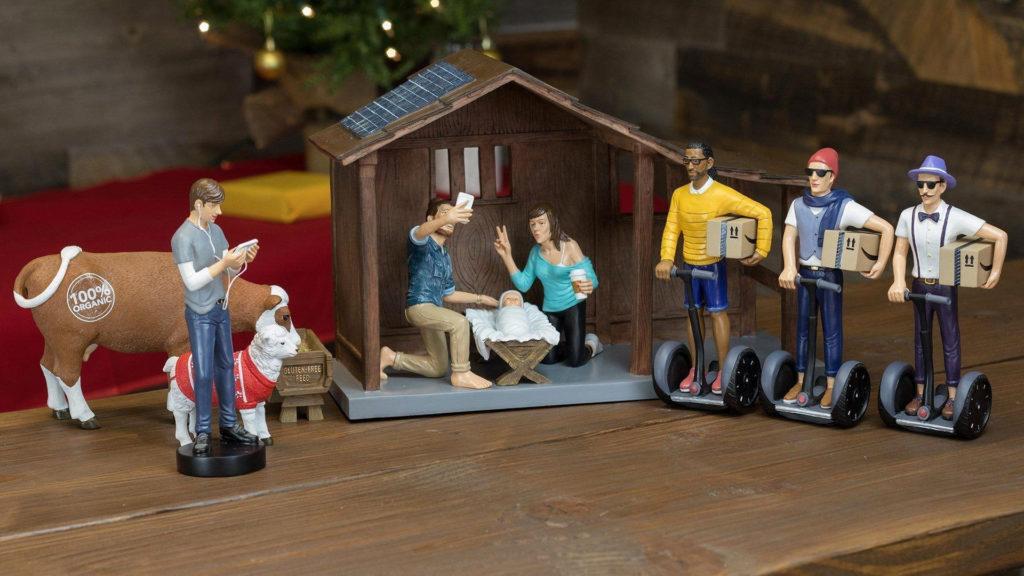 Modern Day Nativity Decor